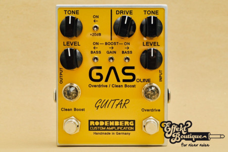 RODENBERG - GAS Overdrive and clean Boost for guitar