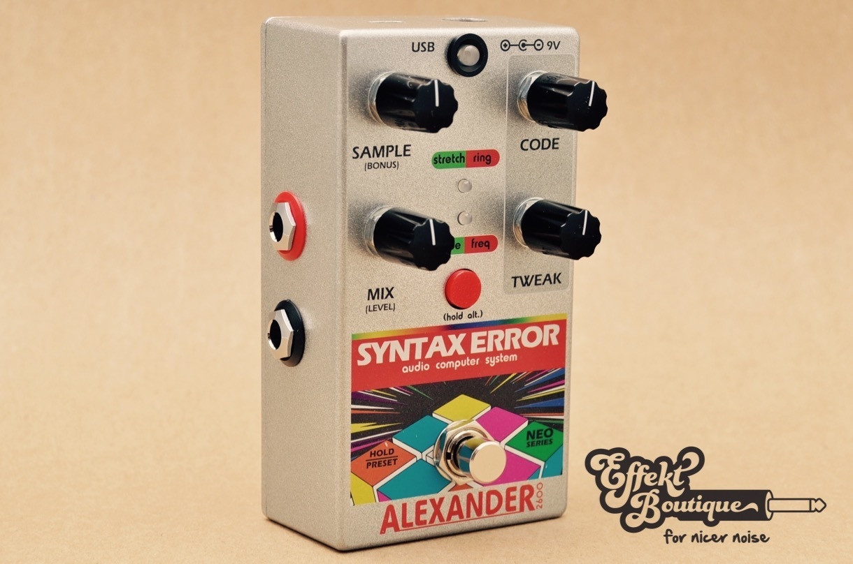 Alexander Syntax Error Audio Computer System Guitar Effect Pedal