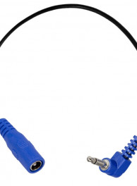 Power-All -BLUE RIGHT-ANGLE PHONE PLUG Adapter