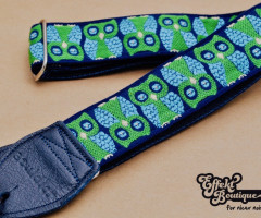 Souldier - Owls Navy Blue Guitarstrap